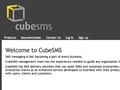 CubeSMS site design by me