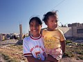 Pisco, Peru. Two girls together