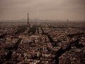 Moody day in Paris, over looking the Eiffel Tower