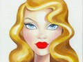 """Published in the book """"Love, Lashes and Lipstick"""" by Mally Roncal.  Oil on canvas board."""