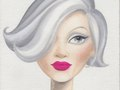 """Published in the book """"Love, Lashes and Lipstick"""" by Mally Roncal.  Oil on canvas board"""
