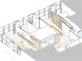 Axonometric drawing of apartment