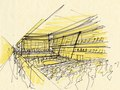 Study sketch for concert hall
