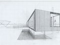 Study sketch for a modernist home