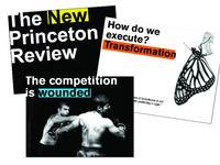 Select slides from a new branding rollout presentation for The Princeton Review