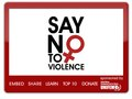 Say No To Violence Campaign widget