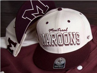 Montreal Maroons headwear and apparel promo