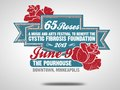 3 color logo for 65 Roses Cystic Fibrosis benefit