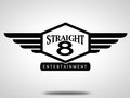 Logo design for Straight 8 Entertainment