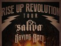 Tour poster for Saliva and Saving Abel