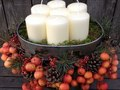 Crab apples and candles - Pommettes et bougies