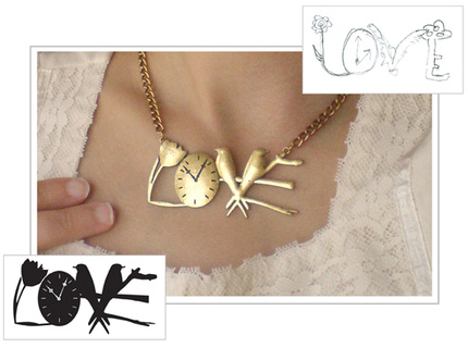 'Love' Necklace Design