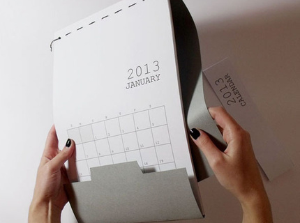 A clean-cut calendar for 2013. Organize your time! See the project here: http://www.behance.net/gallery/Calendar-2013/6053365