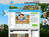 Yabox Homepage - Casual Gaming Site