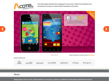 Acotel Interactive Corporate One Page Web Site