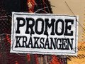 "Promoe ""Kråksången"". All artwork was made by hand on my mothers old school sewing machine."