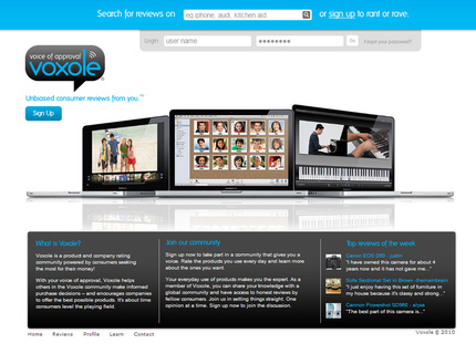 Sign in page for Voxole.com