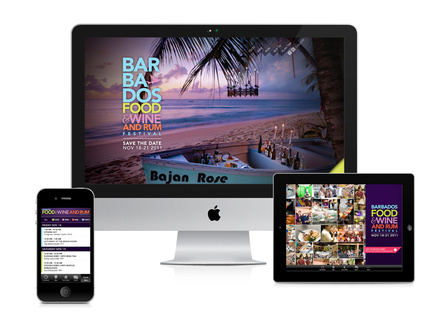 Barbados Food & Wine and Rum Festival - Strategy/Design/Creative Direction www.foodwinerum.com