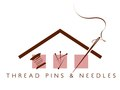 Logo design personifying the handmade nature of Thread, Pins & Needle's unique home décor accessories