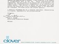Clover Letter of Recommendation