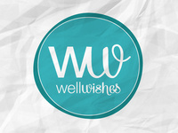 WellWishes logo. Photo by Walgreens' exclusive greeting card line, designed in-house