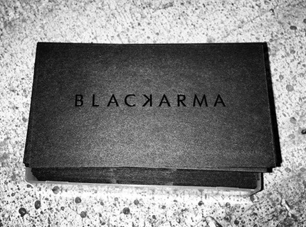 Logo & business card design for BlacKarma styling