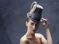 Gray Felt Dandy  (photo, Laura Gehring, make-up/hair, Naomi Rincon, model, Kate Krog