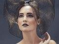 Metallic Bow Hood  (photo, Laura Gehring, make-up/hair, Naomi Rincon, model, Kate Krog