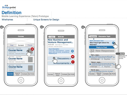 UX: Mobile Classroom Discussion Experience Wireframe / Flow