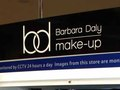 Tesco Barbara Daly Cosmetics Display