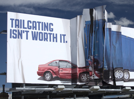 Colorado State Patrol 3D Crash Billboard