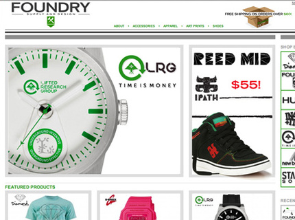 E-Commerce Site design & Printed Material