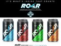 ROAR Beverage cans.