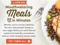 Email to promote chef-created 4-minute meals created exclusively by FreshDirect.com.