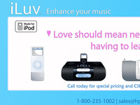 Print/Web Ad For iLuv Products (HPI)