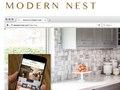 Modern Nest logo, print and web