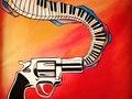 Acrylic on Canvas Gunshow
