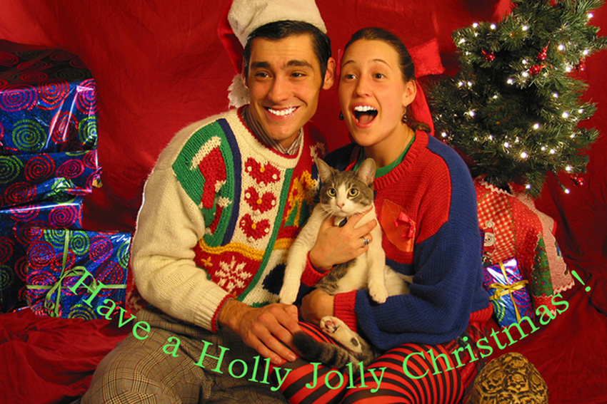 funny holiday cards couple christmas card photo ideas