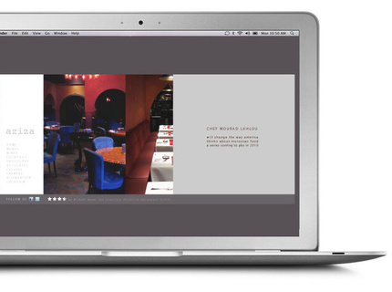 Aziza Restaurant Website Concept
