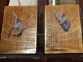Circus diptych 22K gold leaf, egg tempera