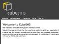 CubeSMS site design by me