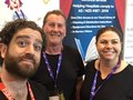 George, Therese and I at a medical conference in Canberra