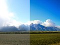 Before/after Tetons