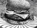 """""""One all-beef patty no antibiotics, no added hormones, no radiation on a sesame seed bun."""" - All natural meats"""