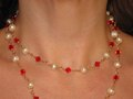 Pearl & Ruby Crystal Necklace