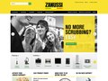 Templated design production for the Zanussi website, introducing their new range