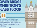 Design for an email invite (attachment) for the launch of a Tower Bridge app for children.