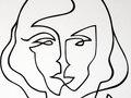 Portrait n.5 - Black Ink on rag paper - 24h x 18w in.