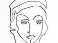 Portrait n.1 - Black Ink on rag paper - 24h x 18w in.