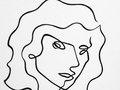 Portrait n.3 - Black Ink on rag paper - 24h x 18w in.